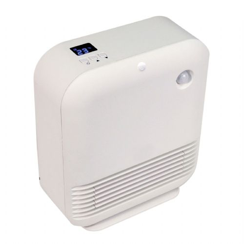 Prem-I-Air EH1668 Floor Standing PTC Fan Heater With PIR Sensor and Thermostat 240v~50Hz